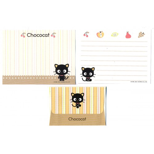 Ano 2001. Conjunto de Mini Papel de Carta Chococat Dupla Sanrio