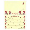Ano 1997. Conjunto de Papel de Carta Pequeno My Melody CAM2 Antigo (Vintage) Sanrio
