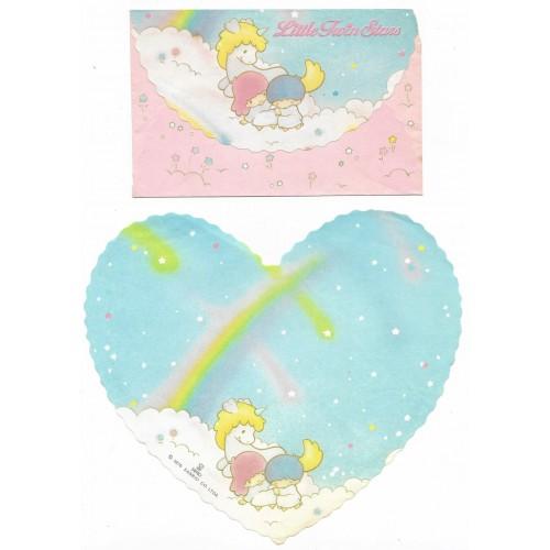 Conjunto de Papel de Carta Antigo Little Twin Stars Coração (CAZ)
