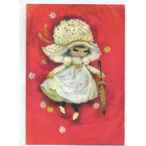 Cartão Antigo Importado Mary Hamilton 06 - Hallmark