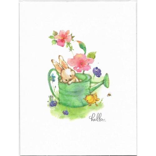 Cartão Antigo Importado Mary Hamilton RABBIT 01 - Hallmark