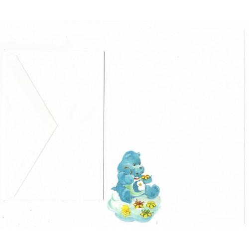 Conjunto de Papel de Carta Antigo Ursinhos Carinhosos BLUE