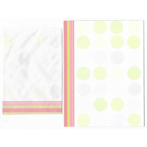 Conjunto de Papel de Carta Importado Color Dots KIKY Indonésia