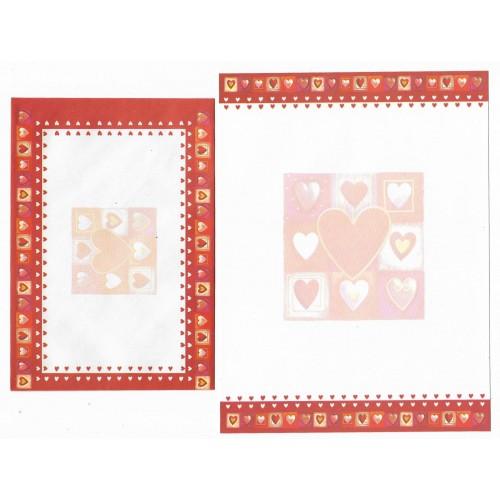 Conjunto de Papel de Carta Importado KIKY - Heart
