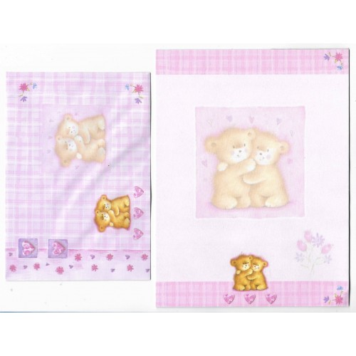 Conjunto de Papel de Carta Importado Bears KIKY Indonésia