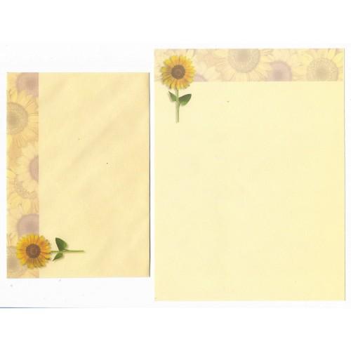Conjunto de Papel de Carta Importado Sunflower KIKY Indonésia