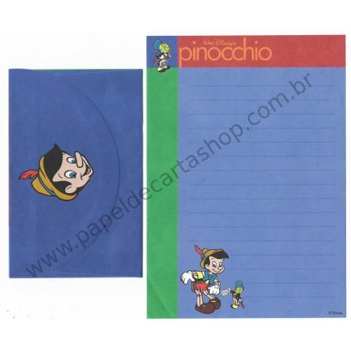 Conjunto de Papel de Carta ANTIGO VINTAGE Pinocchio CAZ