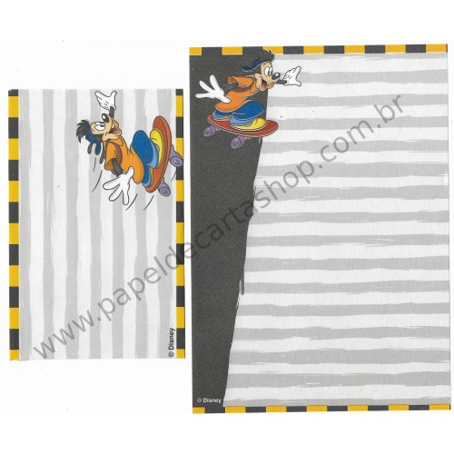 Conjunto de Papel de Carta ANTIGO Personagens Disney GOOFY Movie II