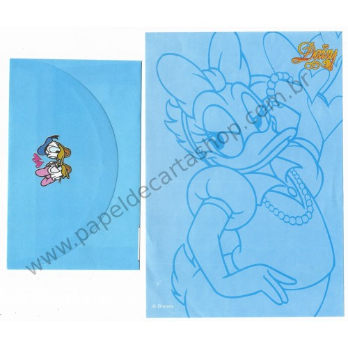 Conjunto de Papel de Carta ANTIGO Personagens Disney Daisy CAZ
