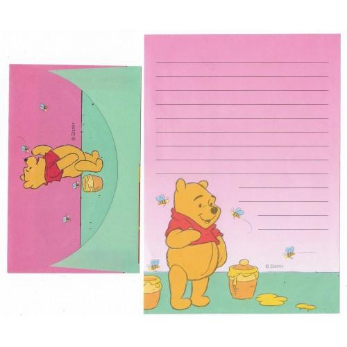 Conjunto de Papel de Carta ANTIGO Personagens Disney Pooh CRS