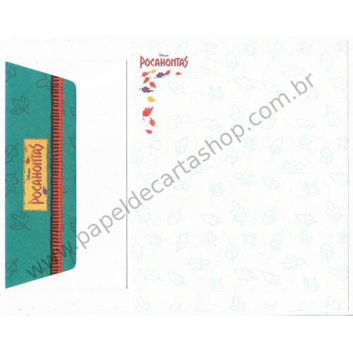 Conjunto de Papel de Carta Antigo Importado Disney Pocahontas