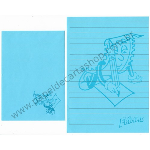 Conjunto de Papel de Carta ANTIGO Personagens Disney Frimme CAZ