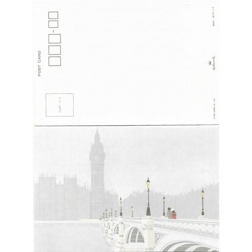 Ano 1983. Postcard Vintage Sanrio Hallmark Big Ben