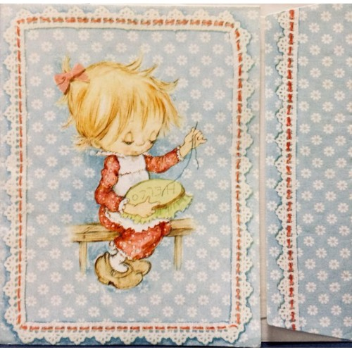 NOTECARD ANTIGO Betsey Clark Sewing