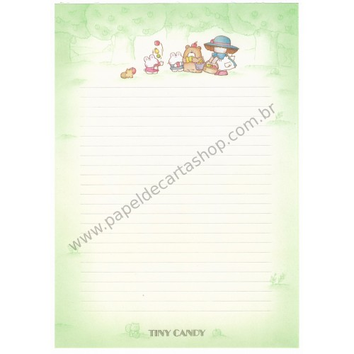 Papel de Carta AVULSO Vintage Tiny Candy Apple Gakken