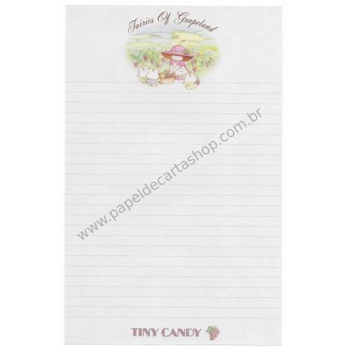 Papel de Carta AVULSO Antigo (Vintage) Tiny Candy Fairies Of Grapeland - Victoria Fancy Gakken