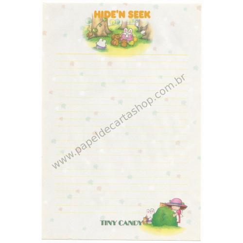 Papel de Carta AVULSO Antigo (Vintage) Tiny Candy Hide'n Seek Amarelo - Victoria Fancy Gakken