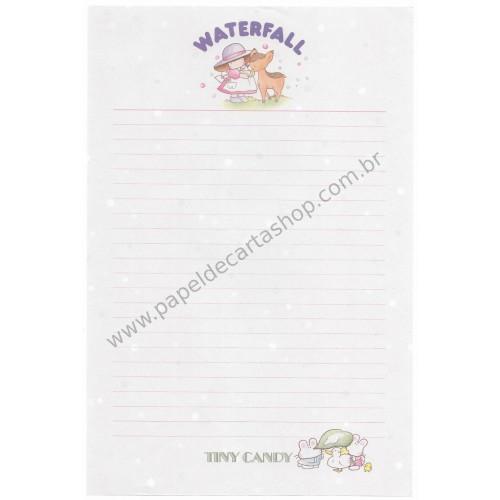 Papel de Carta AVULSO Antigo (Vintage) Tiny Candy Waterfall Rosa - Victoria Fancy Gakken