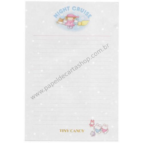 Papel de Carta AVULSO Antigo (Vintage) Tiny Candy Night Cruise Lilás - Victoria Fancy Gakken