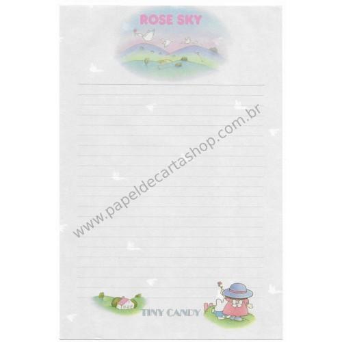 Papel de Carta AVULSO Vintage Tiny Candy Rose Sky CGR Gakken