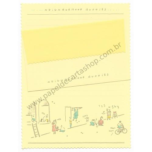 Conjunto de Papel de Carta Antigo (Vintage) Neighborhood Buddies
