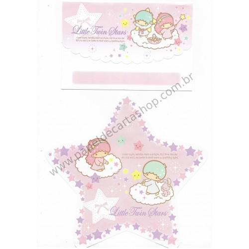 Ano 2009. Kit 2 Conjuntos de Papel de Carta Little Twin Stars Stars Sanrio