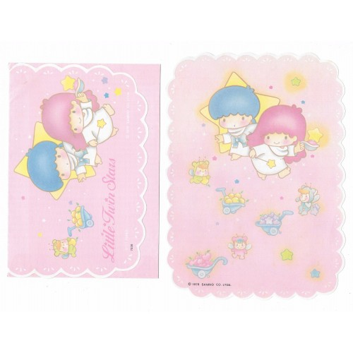 Conjunto de Papel de Carta Antigo Little Twin Stars Cart