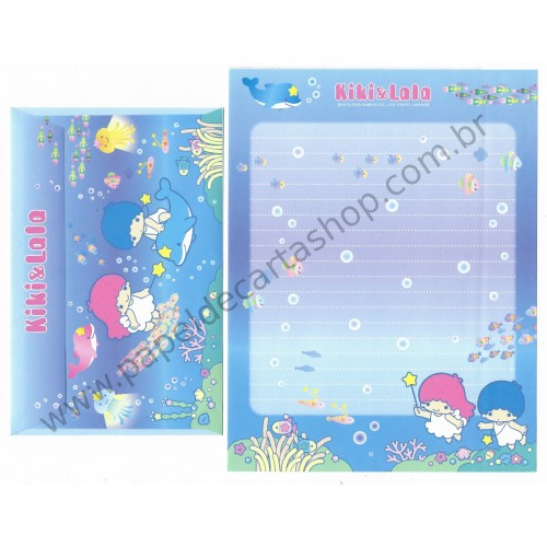 Ano 2003. Conjunto de Papel de Carta K&L Diving Sanrio