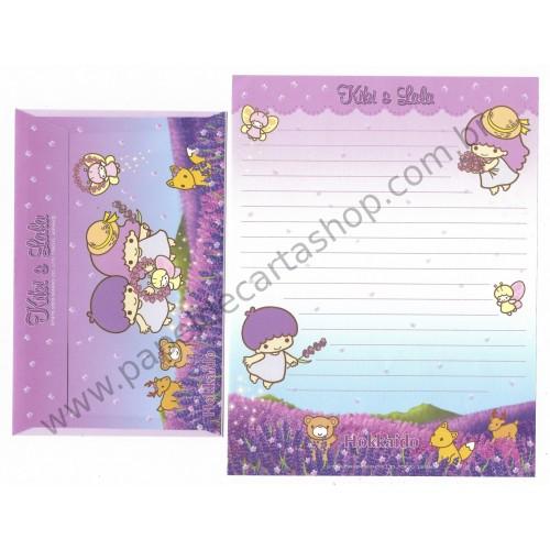 Ano 2003. Conjunto de Papel de Carta Kiki & Lala Hokkaido Sanrio