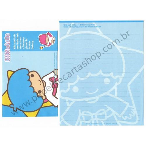 Ano 2003. Conjunto de Papel de Carta Kiki & Lala Dream Galaxy CAZ1 Sanrio