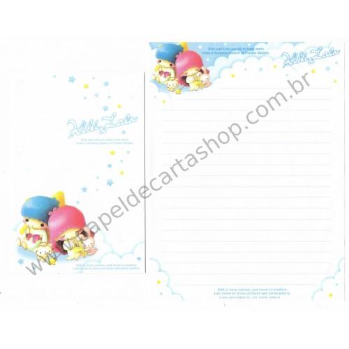 Ano 2004. Conjunto de Papel de Carta Kiki & Lala Dream Galaxy BAZ Sanrio