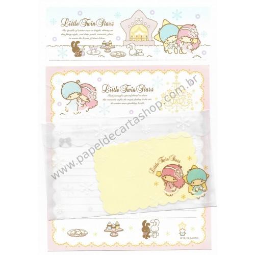 Ano 2009. Conjunto de Papel de Carta Little Twin Stars DUPLA Sanrio