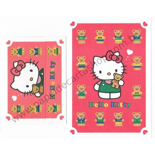 Ano 1993. Conjunto de Papel de Carta Hello Kitty Vintage Sanrio