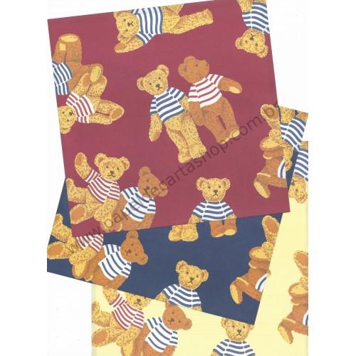 Ano 1995. Kit 3 Papéis de Carta Holly's Bear Vintage Sanrio