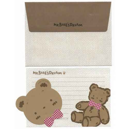 Ano 1995. Conjunto de Papel de Carta Mr. Bear's Dream P Vintage Sanrio