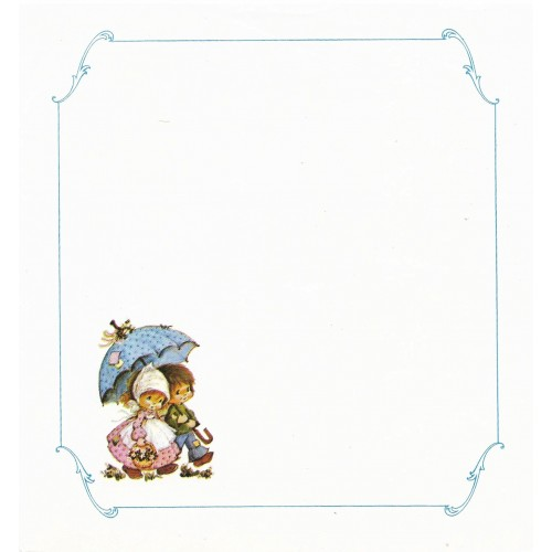 Papel de Carta Antigo BLUE1