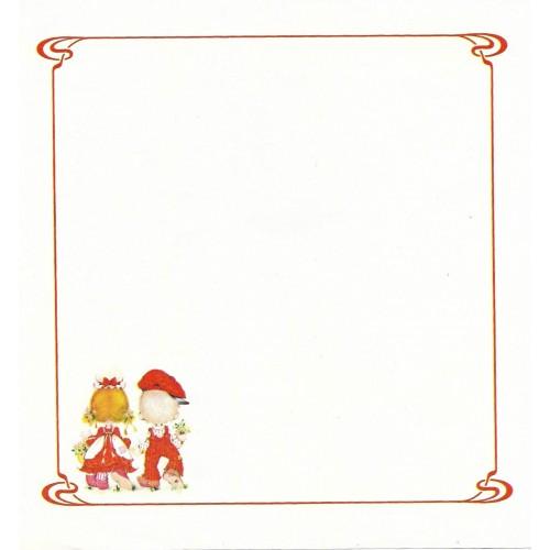 Papel de Carta Antigo Polly Patches RED1