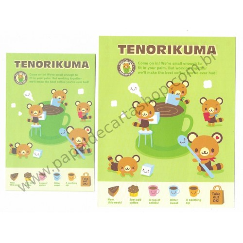 Ano 2007. Conjunto de Papel de Carta Tenorikuma Take Out OK! CVD Sanrio