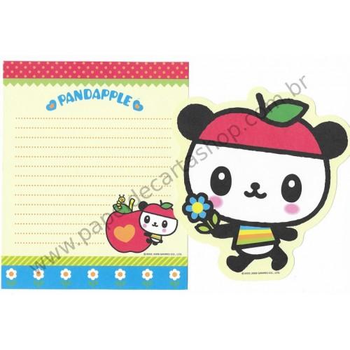 Ano 2006. Conjunto de Papel de Carta Pandapple Sanrio