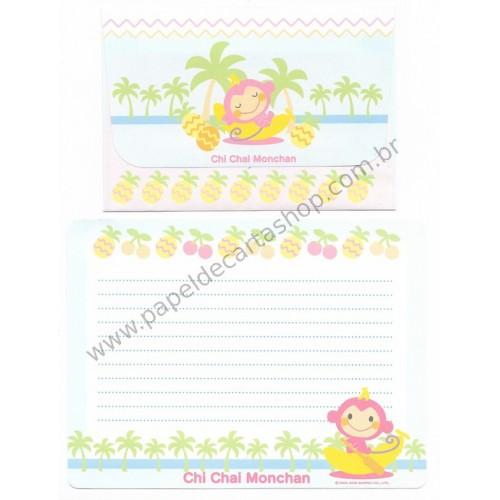 Ano 2005. Conjunto de Papel de Carta Chi Chai Monchan CLB Sanrio
