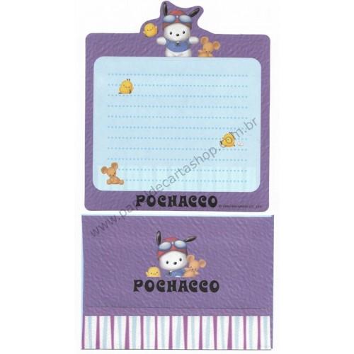 Ano 1999. Conjunto de Papel de Carta Pochacco CP Antigo (Vintage) Sanrio