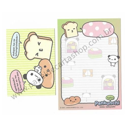 Ano 2008. Conjunto de Mini Papel de Carta Pankunchi CVD Sanrio