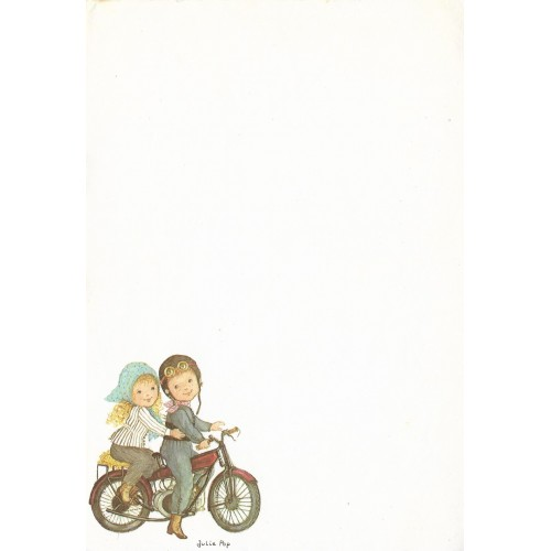 Papel de Carta Antigo SPACK Julie Pop - Motocicleta