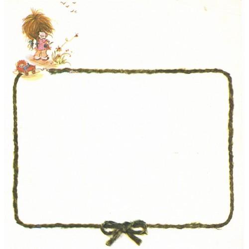 Papel de Carta Antigo Elena Urchins - Gatinho