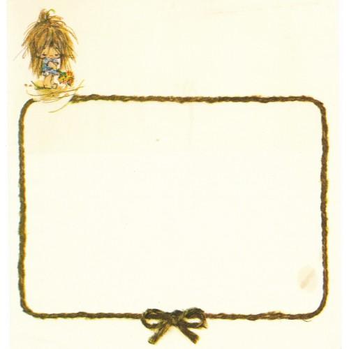 Papel de Carta Antigo Elena Urchins - Flores