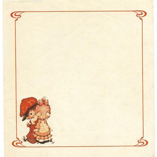 Papel de Carta Antigo Polly Patches RED2