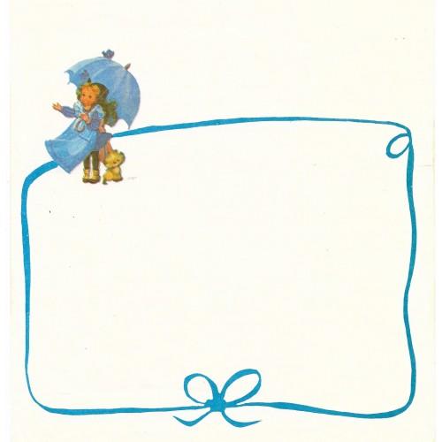 Papel de Carta Antigo Barbi Sargent BLUE1