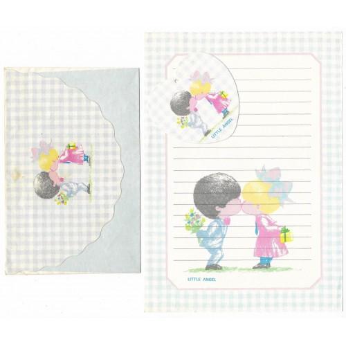 Conjunto de Papel de Carta ANTIGO Menininha Little Angel CAZ