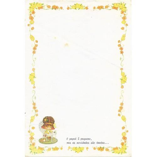 Papel de Carta Antigo Bonnie Bonnets CAM4 COM FRASE