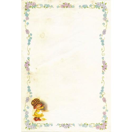 Papel de Carta Antigo Bonnie Bonnets CAZ5